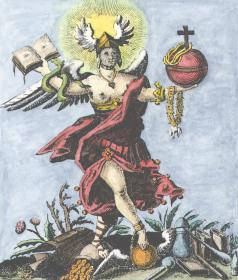 Engraving From Ja Siebmacher Das Guldene Vleiss Nurnberg 1737, Alchemical And Hermetic Emblems 1